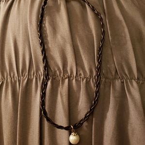 Brown leather chocker